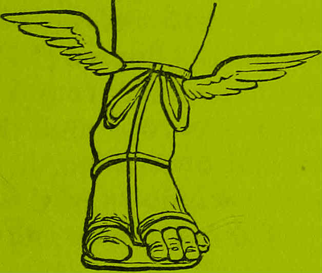L Sandals Winged • gHertz Poetry EH2ID9WY