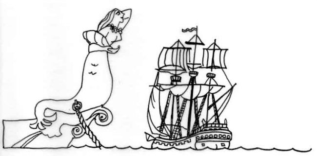 Figurehead drawing and poem