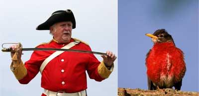 redcoats. Copyright: Clive Watkins