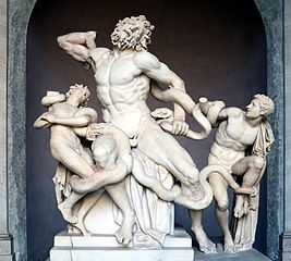 Laocoön and His Sons, marble copy after an Hellenistic original from circa 200 B.C. Wikipedia Commons